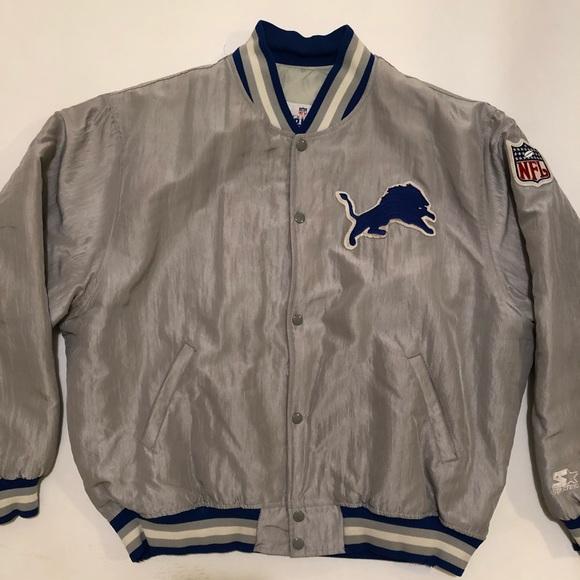 Vintage 90s Detroit lions starter jacket. M 5a6822e4331627eea1c5b7f1 b21887233